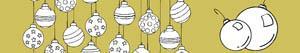Ζωγραφική Χριστουγέννων σφαίρες ζωγραφιές