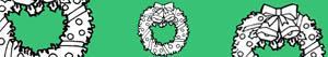 Ζωγραφική Χριστούγεννα στεφάνια και γιρλάντες ζωγραφιές