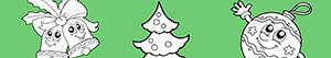 Ζωγραφική Διακοσμήστε το Χριστουγεννιάτικο Δέντρο ζωγραφιές