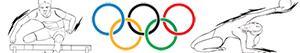 Ζωγραφική Ολυμπιακά αθλήματα. Στίβος. Γυμναστική. Συνδυασμένη εκδηλώσεις ζωγραφιές